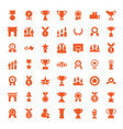 49 victory icons vector image vector image
