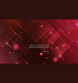 abstract geometric shapes on red background