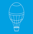 air balloon icon outline style vector image vector image