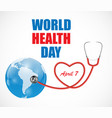 april 7 world health day background vector image vector image