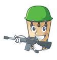 army conga character cartoon style vector image