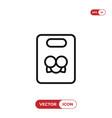 bag icon vector image vector image