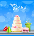 birthday party accessories realistic vector image vector image