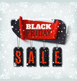 black friday sale abstract banner with price tags vector image