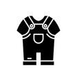 boys clothes black icon concept vector image vector image
