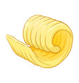 butter curl vector image