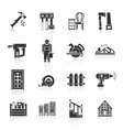 Carpentry Icons Black vector image vector image