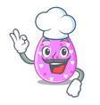 chef cartoon shape easter color on eggs vector image