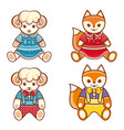 childrens animals ornament kid cute pet vector image vector image