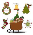 Christmas decoration isolated on white background vector image vector image