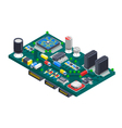 Circuit Board Isometric Concept vector image vector image