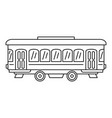 city old tram icon outline style vector image vector image