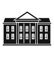 classic courthouse icon simple style vector image vector image