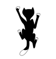 climbing black cat vector image vector image