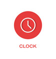 clock round flat icon time symbol vector image