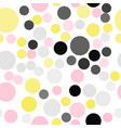 colorful seamless pattern background with dots vector image vector image