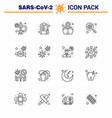 coronavirus awareness icon 16 line icons icon vector image vector image