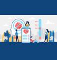 coronavirus information in smartphone medicine vector image vector image