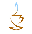Cup Of Hot Tea With Vapor vector image vector image