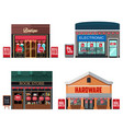 different stores with sale signs vector image vector image