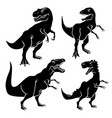 dinosaur silhouettes 001 vector image vector image