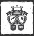 diving club vector image vector image