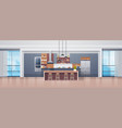 empty kitchen interior with modern furniture vector image vector image
