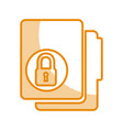 folder file with padlock isolated icon vector image vector image