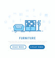 furniture concept template for web page vector image