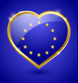 Glossy european heart vector image vector image