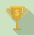 gold money cup icon flat style vector image