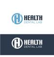 h dental health logo designs simple modern vector image