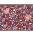 heart shape background in red colors to valentines vector image vector image