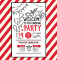 Invitation carnival party flyerTypography and vector image vector image