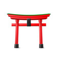 japanese torii gate wooden red entrance vector image