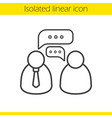 job interview linear icon vector image