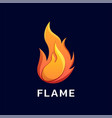 logo flame gradient colorful style vector image