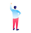 man thumb up icon isometric style vector image vector image
