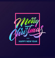 merry christmas calligraphy lettering vector image vector image
