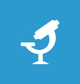 microscope icon white on the blue background vector image vector image