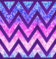 neon zigzag pattern vector image vector image
