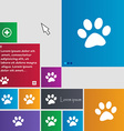 paw icon sign buttons Modern interface website vector image vector image