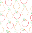 Pears and apples pattern vector image vector image