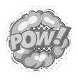 pow explosion bubble icon monochrome vector image vector image