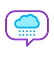 rain cloud frame icon outline vector image