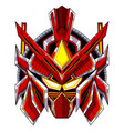 red robot head mascot logo design vector image
