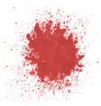 red watercolor blots vector image