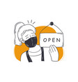reopening shop small business concept vector image