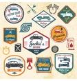 retro car labels vector image