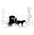 retro scene of lifestyle with wheelchair vector image